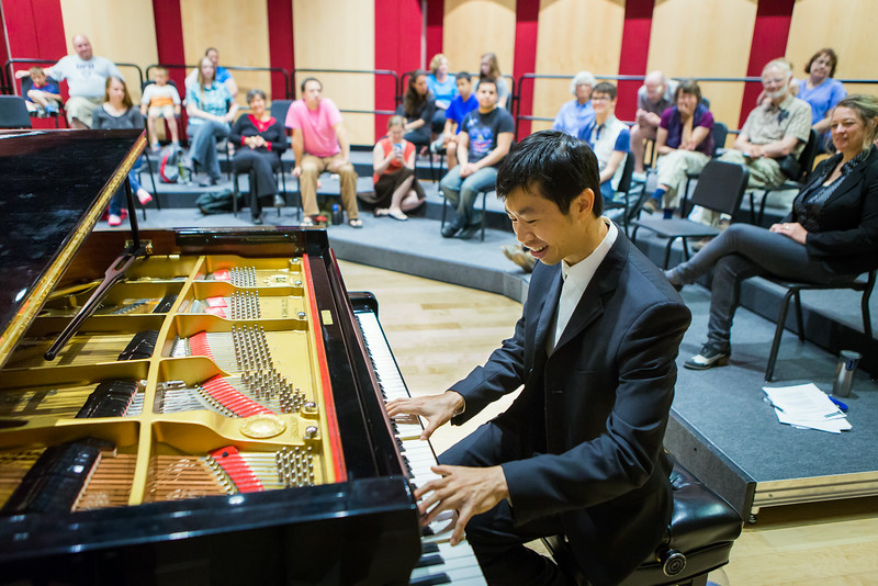 """Contestant Martin Leung, also known as the video game pianist, performs music from video games at a public lecture during the Alaska International Piano-e-Competition  <div class=""""ss-paypal-button"""">Filename: AAR-14-4234-26.jpg</div><div class=""""ss-paypal-button-end""""></div>"""