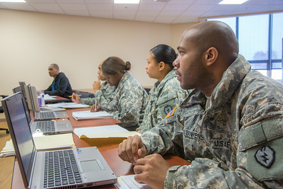 Soldiers stationed at Fort Wainwright have access to college classes through the Education Center on base.  Filename: AAR-14-4135-70.jpg