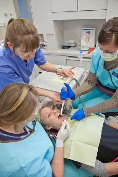 """Students in UAF's Community and Technical College Dental Assisting program practice procedures in their 4th floor training facility in CTC building downtown.  <div class=""""ss-paypal-button"""">Filename: AAR-12-3293-067.jpg</div><div class=""""ss-paypal-button-end"""" style=""""""""></div>"""