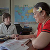 "Ginny Redmond, left, director of UAF's Student Support Services, works with Kaneyo Hirata during a tutoring session in their Gruening Building office.  <div class=""ss-paypal-button"">Filename: AAR-12-3285-090.jpg</div><div class=""ss-paypal-button-end"" style=""""></div>"