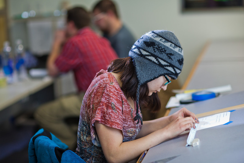 "Michelle Kubo works through her assignment in her drafting class at UAF's Community and Technical College.  <div class=""ss-paypal-button"">Filename: AAR-11-3221-25.jpg</div><div class=""ss-paypal-button-end"" style=""""></div>"