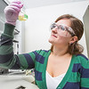 "Chemistry major Emily Olson completes a procedure in a Reichardt Building lab.  <div class=""ss-paypal-button"">Filename: AAR-12-3598-158.jpg</div><div class=""ss-paypal-button-end"" style=""""></div>"