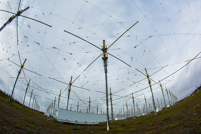 A look at part of the antenae array at the High Frequency Active Auroral Research Program (HAARP) facility in Gakona. The facility was built and operated by the U.S. military before its official transfer to UAF's Geophysical Institute in August 2015.  Filename: AAR-15-4600-020.jpg
