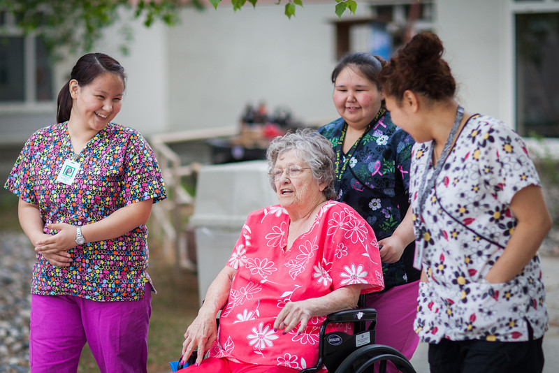 """Students from the UAF Northwest Campus conduct a two-week clinical practicum at the Denali Center in Fairbanks as part of the Nurse Aid Training program.  <div class=""""ss-paypal-button"""">Filename: AAR-13-3859-53.jpg</div><div class=""""ss-paypal-button-end"""" style=""""""""></div>"""