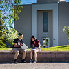"""Rural Alaska Honors Institute students study for their Introduction to College Writing course in Cornerstone Plaza on Friday, June 8.  <div class=""""ss-paypal-button"""">Filename: AAR-18-5817-3.jpg</div><div class=""""ss-paypal-button-end""""></div>"""
