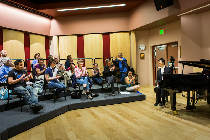 "Contestant Martin Leung, also known as the video game pianist, conducts a public lecture during the Alaska International Piano-e-Competition  <div class=""ss-paypal-button"">Filename: AAR-14-4234-23.jpg</div><div class=""ss-paypal-button-end""></div>"