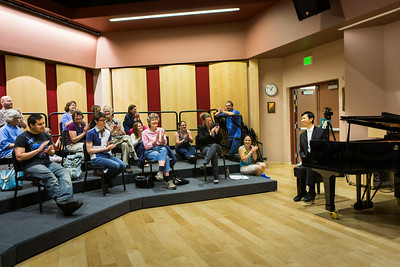 Contestant Martin Leung, also known as the video game pianist, conducts a public lecture during the Alaska International Piano-e-Competition  Filename: AAR-14-4234-23.jpg