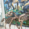 "A mounted dinosaur skeleton display of Ugrunaaluk kuukpikensis, an arctic duck-billed hadrosaur, stands near the entrance of the University of Alaska Museum of the North.  <div class=""ss-paypal-button"">Filename: AAR-16-4890-82.jpg</div><div class=""ss-paypal-button-end""></div>"
