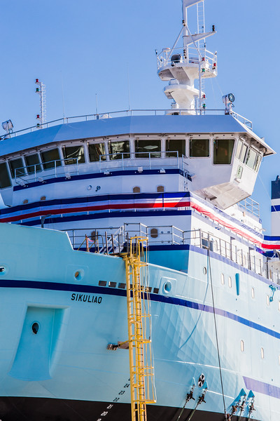 """The R/V Sikuliaq sits on the pad at Marinette Marine Corporation in Marinette, Wisc., a day before it's official launch.  <div class=""""ss-paypal-button"""">Filename: AAR-12-3592-160.jpg</div><div class=""""ss-paypal-button-end"""" style=""""""""></div>"""