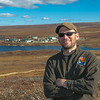 "Brett Biebuyck, assistant operations supervisor at UAF's Toolik Field Station, poses on the hill behind the research site, located about 330 miles north of Fairbanks on Alaska's North Slope.  <div class=""ss-paypal-button"">Filename: AAR-13-3929-350.jpg</div><div class=""ss-paypal-button-end""></div>"