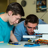 "Stephen Ramirez, left, and Daniel Dougherty watch the progress on their project during an open work session in UAF's Community and Technical College's 3-D print lab in downtown Fairbanks.  <div class=""ss-paypal-button"">Filename: AAR-16-4857-017.jpg</div><div class=""ss-paypal-button-end""></div>"