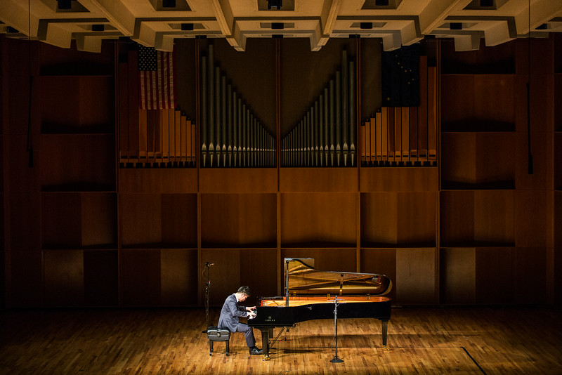 """Sejoon Park performs her recital during the first round of the Alaska International Piano-e-Competition at the Davis Concert Hall.  <div class=""""ss-paypal-button"""">Filename: AAR-14-4228-6.jpg</div><div class=""""ss-paypal-button-end""""></div>"""