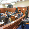 "Kelsey Wallace, a senior rural development major from Bethel, was among a group of students from rural Alaska attending a weeklong seminar on Understanding the Legislative Process in Juneau. She was formally introduced on the floor of the Alaska State Senate.  <div class=""ss-paypal-button"">Filename: AAR-14-4054-190.jpg</div><div class=""ss-paypal-button-end"" style=""""></div>"