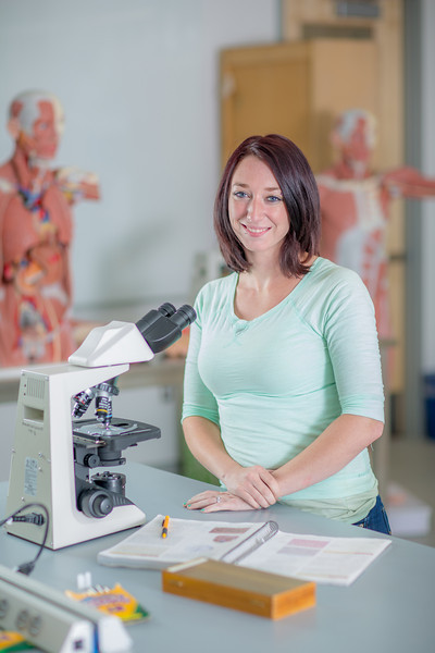 "Kelsey Gordon smiles during a break in her summer sessions anatomy and physiology lab in the Murie Building.  <div class=""ss-paypal-button"">Filename: AAR-13-3856-41.jpg</div><div class=""ss-paypal-button-end"" style=""""></div>"