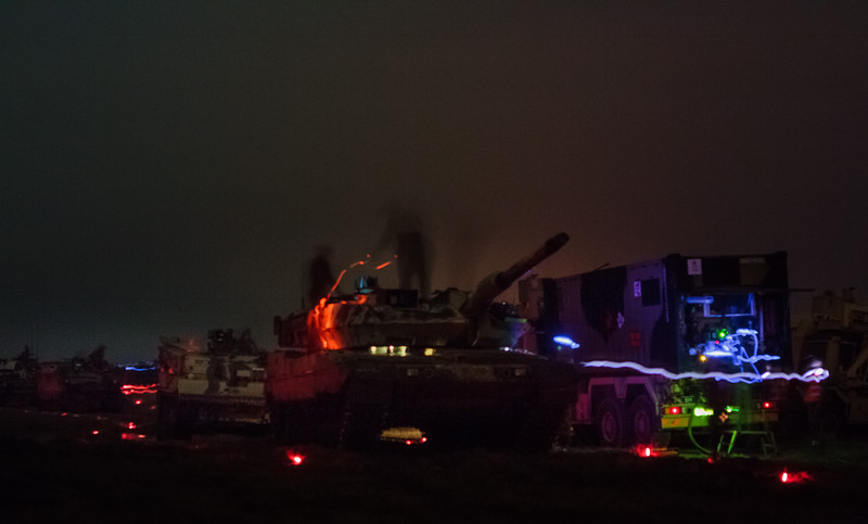 Refulling and rearm of a main battle tank group