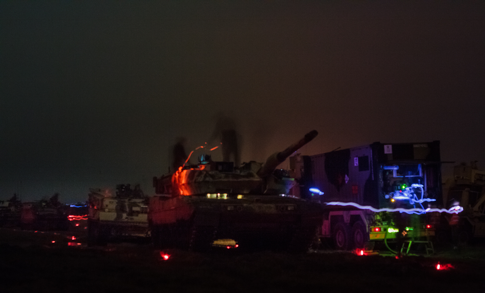 R3P, Refulling and rearm of a main battle tank group