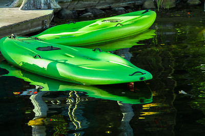 Reflections of the Kayaks