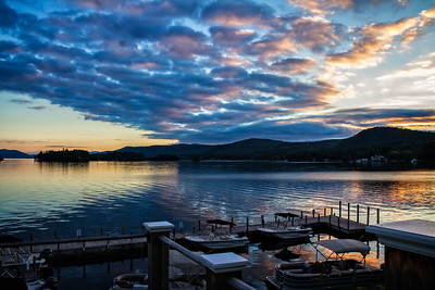 Sunset on Lake George
