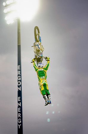 22 November 2008 Townsville, Qld - Kain Saul during the Australasian FMX Championship round at Townsville's Dairy Farmers Stadium - Photo: Cameron Laird (Ph: 0418 238811)