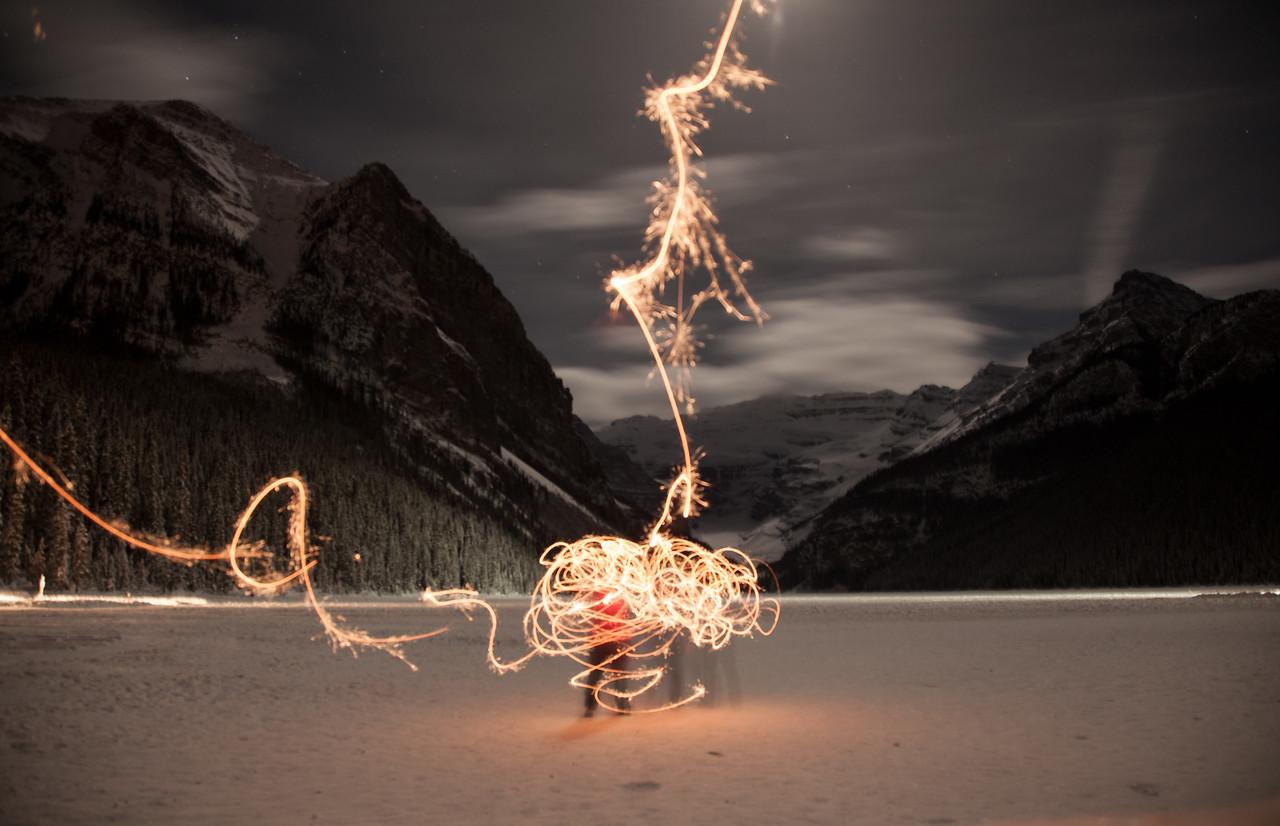 New Years Eve, Lake Louise, Banff National Park, Alberta