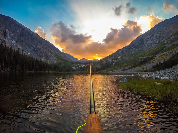 Fly Fishing into the Sunset