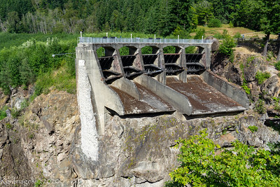 Former site of the Glines Canyon Dam which was built in 1927 and removed in 2015 returning the Elwha to a free flowing river and reestablishing the native fishery.