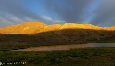 Sunrise over Wilde Lake.