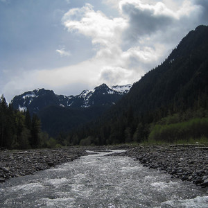Mother Mountain from the Carbon River foot bridge.