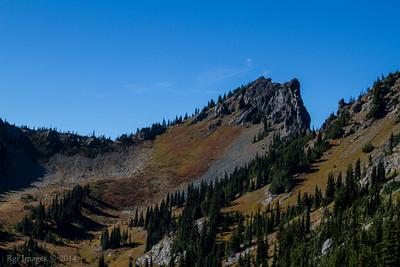 Sourdough Gap (left) and the Pacific Crest Trail