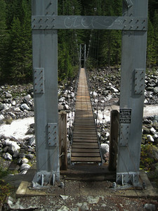 Suspension Bridge over the Carbon River.