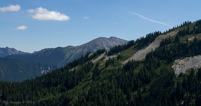 Looking back to Mount Fremont and the Fire Lookout.