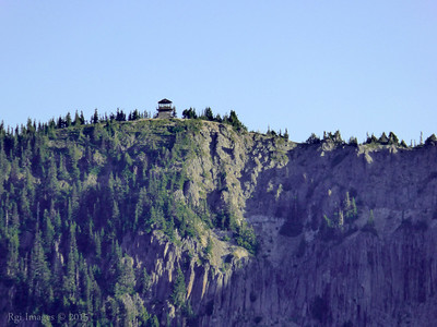 Early morning light on Tolmie Peak fire lookout.