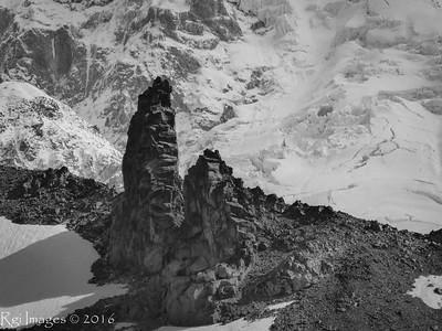 Tokaloo Spire and the Puyallup Glacier