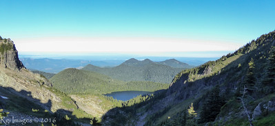 Mowich Lake from Knapsack Pass