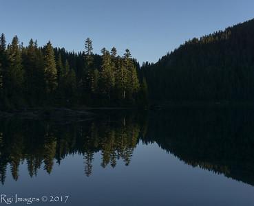Morning light on Mowich Lake.