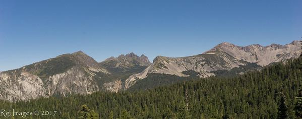 Crescent Mountain, Sluiskin Mountain, and Old Desolate (L to R)