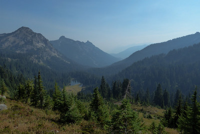 Looking east to Two Lakes from the PCT