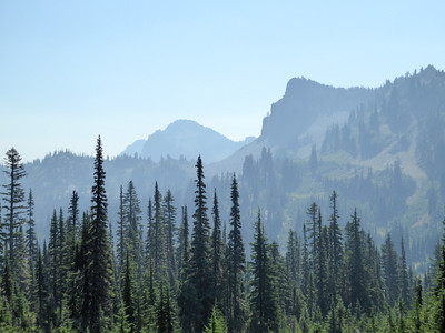 Looking east toward American Lake from the PCT