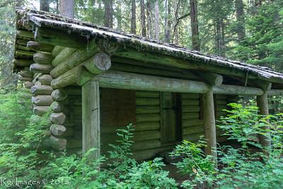 Huckleberry creek patrol cabin.