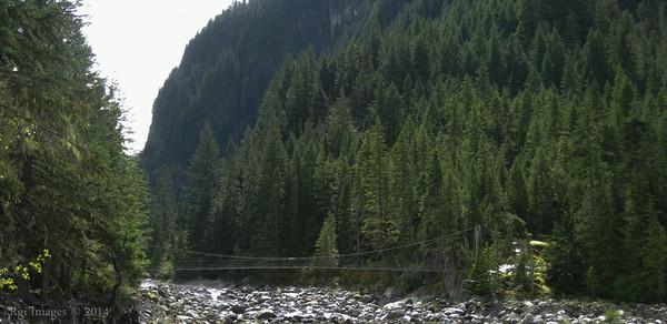 Suspension Bridge over the Carbon River.