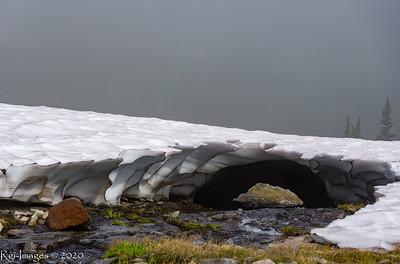 Snow bridge in Seattle Park