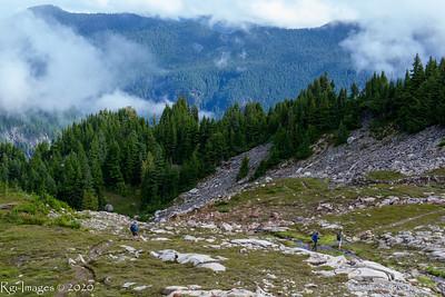 Hikers descending Seattle Park