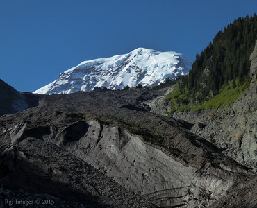 The Mountain and the snout of the Carbon Glacier.