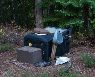 High tech backcountry toilet, Snow Lake Camp.