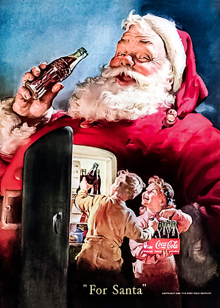 1950 Coca-Cola Christmas Advertisement