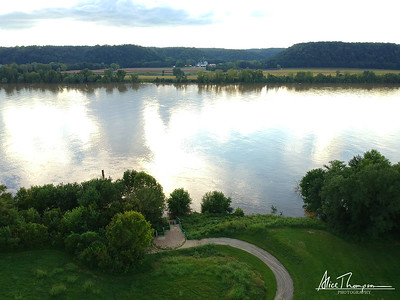 Aerial View - River at Farnsley Moreman - Louisville, KY