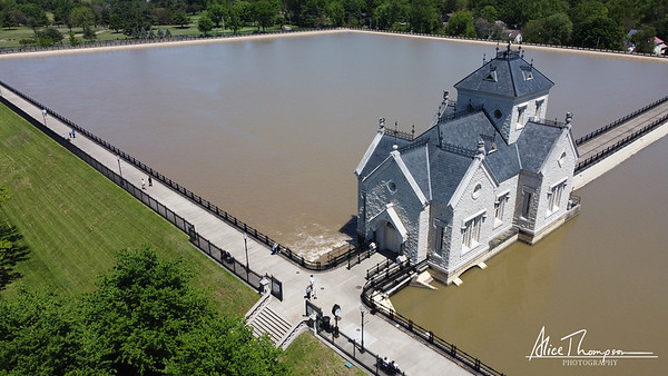 Aerial View of Water Reservoir - Louisville, KY