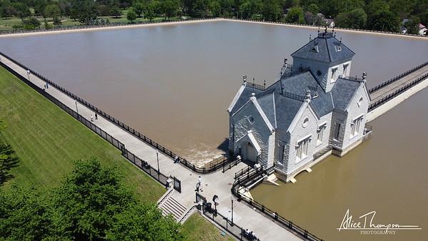 Aerial View of Water Reservoir - Louisville, KY