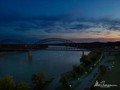 New Albany Sunset and Bridge