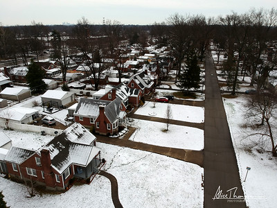 Neighborhood in the Snow